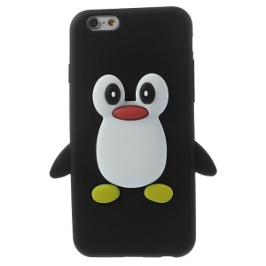 Cute Penguin Soft Silicone Cover for iPhone 6 / 6s 4.7 inch - Black