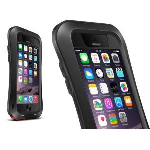 LOVE MEI Small Waist Dropproof Shockproof Dustproof Cover for iPhone 6 6s 4.7 - Black