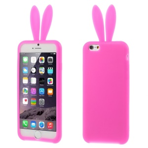 Rabbit Ears Soft Silicone Gel Case for iPhone 6 / 6s 4.7 Inch - Rose
