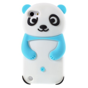 Cute 3D Panda Soft Silicone Cover for iPod Touch 6 / Touch 5 - Blue