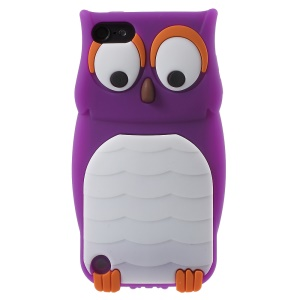 Owl Shape Silicone Protective Case for iPod Touch 6 / Touch 5 - Purple