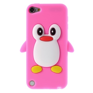 3D Penguin Silicone Protective Cover for iPod Touch 5 / Touch 6 - Rose