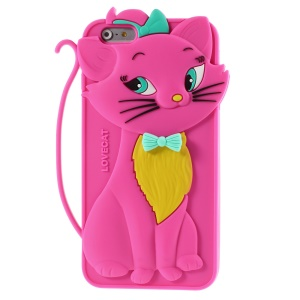 Rose Cute 3D Bow Tie Cat Silicone Back Case for iPhone 6 Plus / 6s Plus 5.5 inch