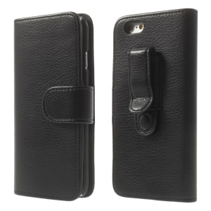 Lychee Texture Belt Clip Leather Wallet Case for iPhone 6 4.7 inch