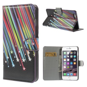 Colorful Meteor Wallet Leather Folio Case for iPhone 6 Plus 5.5 inch