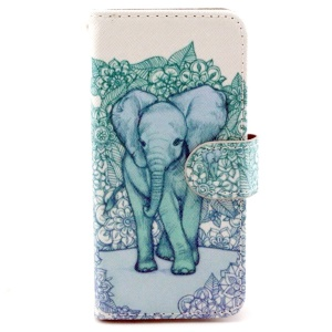 Giant Elephant Leather Stand Cover w/ Card Slots for iPhone 6