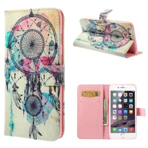 Leather Wallet Case w/ Stand for iPhone 6 Plus - Dream Catcher