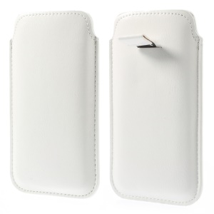 PU Leather Sleeve Pouch Cover for iPhone 6s 6 4.7-inch - White