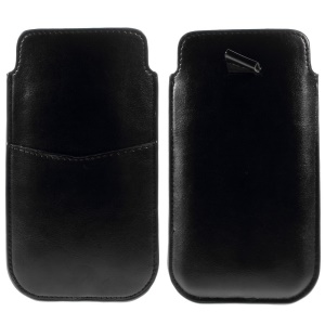 Crazy Horse Leather Sleeve Pouch for iPhone 6 Plus / 6s Plus - Black
