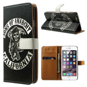 Quote Sons of Anarchy California Wallet Stand Leather Case for iPhone 6 / 6s 4.7 inch