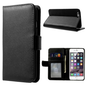 Flip Wallet Leather Case Cover with Stand for iPhone 6s 6 - Black
