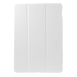 Pour iPad Air 2 Slim Tri-Fold Stand Leather Flip Cover - blanc