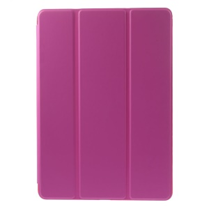 For iPad Air 2 Slim Tri-fold Stand Folio Leather Cover - Rose