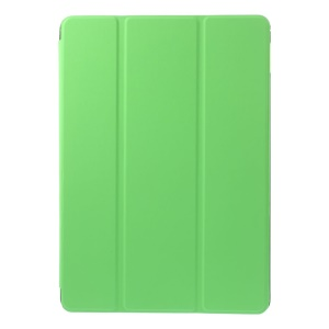 For iPad Air 2 Slim Tri-fold Stand Leather Case Cover - Green