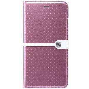 NILLKIN Ice Series Wave Point Leather Cover w/ Stand for iPhone 6 Plus - Pink
