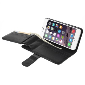 Multi-functional Wallet Stand Leather Case for iPhone 6 Plus / 6s Plus / 6s Plus - Black