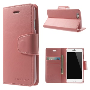 Mercury GOOSPERY for iPhone 6 Plus / 6s Plus Goospery Sonata Diary Stand Leather Skin Case - Pink