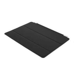 Tri-Fold Single Front Smart Leather Skin Cover w/ Stand for iPad Air 2 - Black