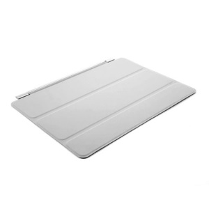 Tri-Fold Single Front Smart Leather Cover Auto Sleep/Wakeup for iPad Air 2 - Light Gray