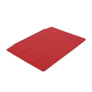 Tri-Fold Single Front Smart Leather Cover Auto Sleep/Wakeup for iPad Air 2 - Red