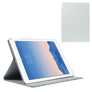 White for iPad Air 2 DOORMOON Genuine Leather Smart Cover with Stand
