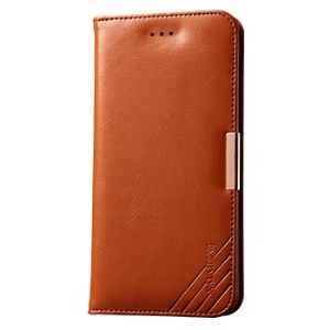 KLD Royale II Series for iPhone 6 Plus / 6s Plus Genuine Leather Stand Cover Card Holder - Brown