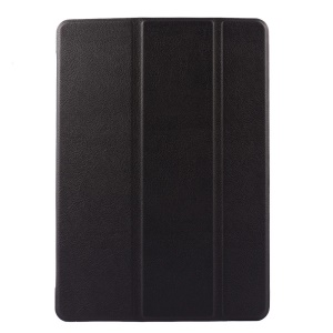 Black for iPad Air 2 Custer Grain Leather Smart Stand Cover Case