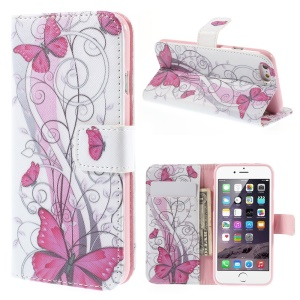 Vivid Butterflies Folio Leather Wallet Shell for iPhone 6 / 6s 4.7 inch