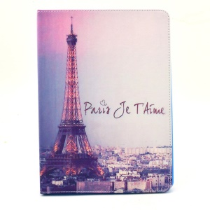 Paris Eiffel Tower Smart Flip Leather Stand Shell for iPad Air 2