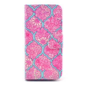 Vivid Flowers Wallet Leather Stand Cover for iPhone 5s 5