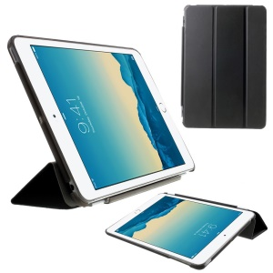 For iPad mini / mini 2 / mini 3 Smart Leather Tri-fold Cover + Back Companion PC Case - Black