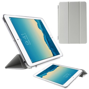 For iPad mini / mini 2 / mini 3 Tri-fold Smart Leather Cover + Back Companion PC Case - White