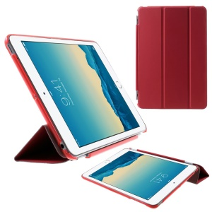 For iPad mini / mini 2 / mini 3 Tri-fold Smart Leather Cover + Companion PC Shell - Red