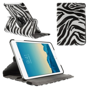 Smart Zebra-striped Leather Case for iPad Mini 1 2 3 with 360 Degree Rotary Stand