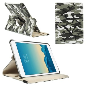 Army Green Camouflage Smart Leather Cover for iPad Mini 1 2 3 with 360 Degree Rotary Stand