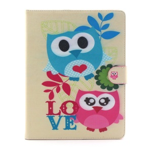 Flip Smart Leather Wallet Stand Case Shell for iPad 2 3 4 - Owls and Love