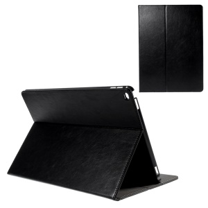 Stand Leather Smart Case with Card Slots for iPad Pro 12.9 - Black