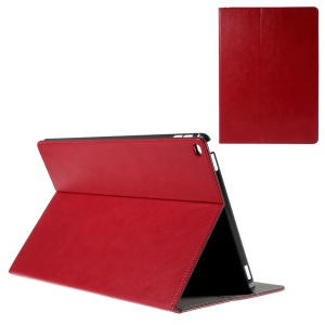 Leatherette Smart Cover with Card Holder for iPad Pro 12.9 - Red