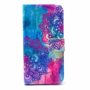 Leather Folio Phone Protective Case for iPhone 6 - Elegant Mandala Pattern