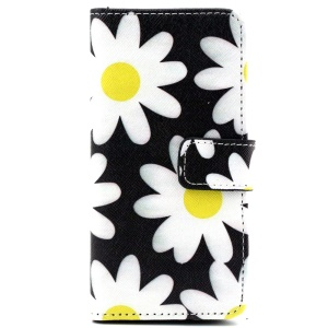 Beautiful Flowers Magnetic Leather Stand Cover for iPhone 6