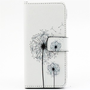Dandelion Pattern Wallet Leather Case Cover for iPhone 6 with Stand
