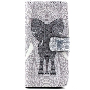 Giant Elephant PU Leather Card Holder Cover for iPhone 6