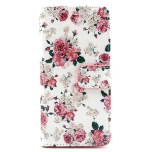 Fresh Flowers Wallet Leather Cover for iPhone 6 with Stand