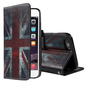 Retro Union Jack Flag Wallet Stand Leather Case for iPhone 6 Plus