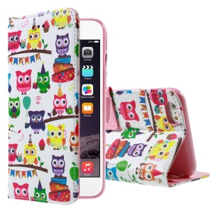 Multiple Cute Owls Wallet Stand Leather Cover for iPhone 6 4.7 inch