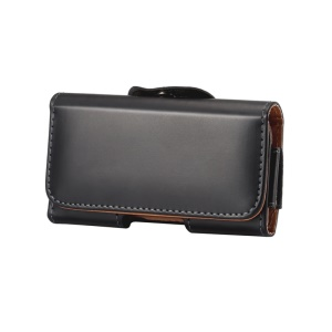 Universal Glossy Leather Case Holster for iPhone 4s with Belt Clip
