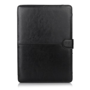 Crazy Horse Leather Protective Case for MacBook 12-inch with Retina Display(2015) - Black