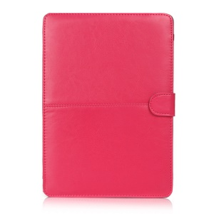 Crazy Horse Leather Protective Cover for MacBook 12-inch with Retina Display(2015) - Rose
