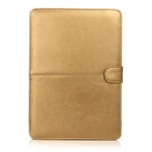 Crazy Horse Leather Protective Shell for MacBook 12-inch with Retina Display(2015) - Gold