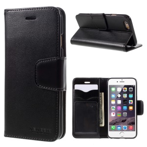 NEWSETS MERCURY SNT Series Leather Case for iPhone 6s 6 4.7 inch - Black